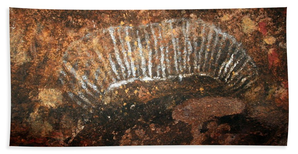 Witchittey Grub Beach Towel featuring the photograph Cave Painting Of A Witchittey Grub by Laurel Talabere