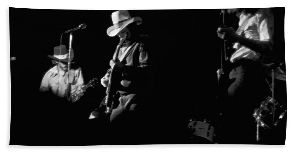 Charlie Daniels Band Beach Towel featuring the photograph Cdb At Winterland 1975 by Ben Upham