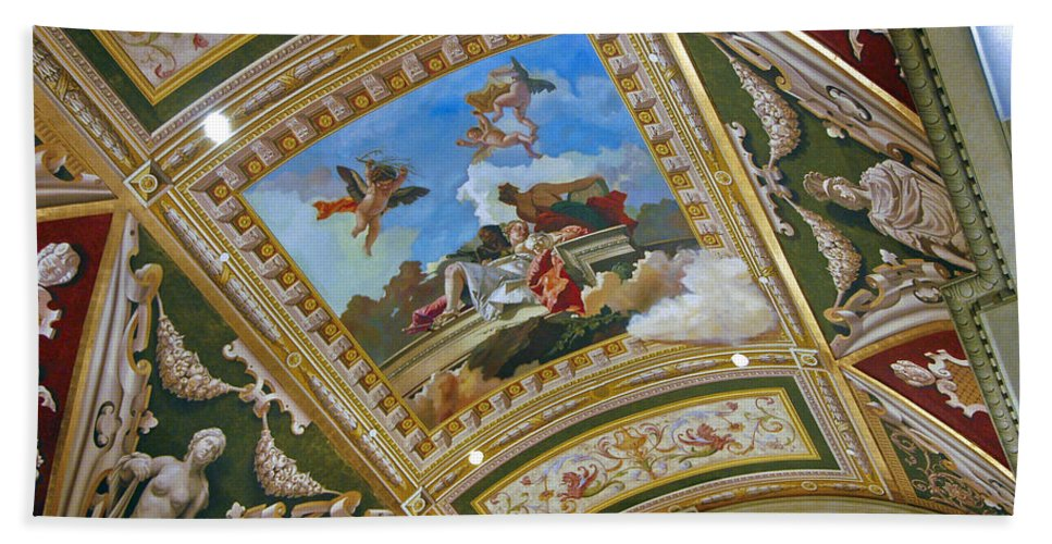 Las Vegas Beach Towel featuring the photograph Ceiling Inside Venetian Hotel by Jon Berghoff