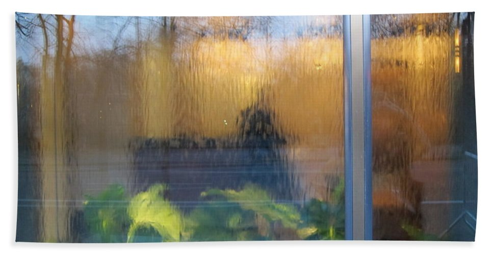 Reflections Beach Towel featuring the photograph Central Park Reflections by Stefa Charczenko