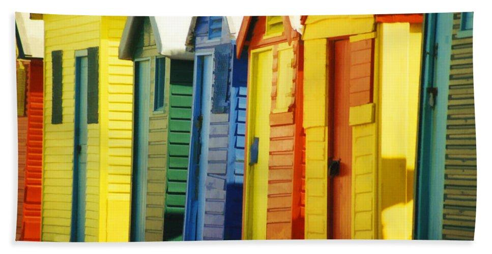 James Beach Beach Towel featuring the photograph Change Rooms by Douglas Barnard