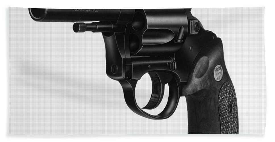 20th Century Beach Towel featuring the photograph Charter Arms Revolver by Granger