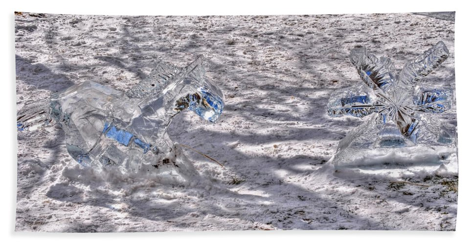 Beach Towel featuring the photograph Chasing Snowflakes by Michael Frank Jr