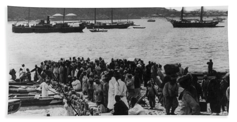 Chemulpo Beach Towel featuring the photograph Chemulpo Harbor - Korea - 1903 by International Images
