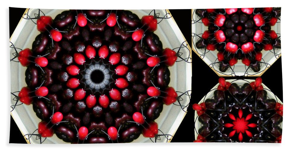 Cherries Beach Towel featuring the photograph Cherries Jubilee by Barbara Griffin