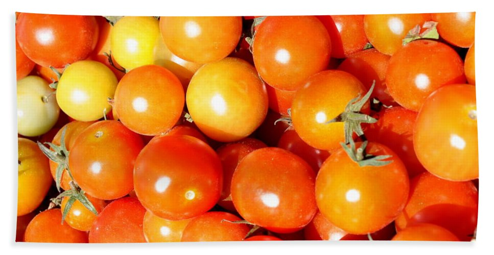 Tomato Beach Towel featuring the photograph Cherry Tomatoes by Carol Groenen