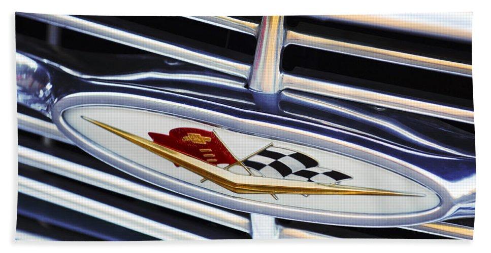 Chevrolet Beach Towel featuring the photograph Chevrolet Emblem by Jill Reger