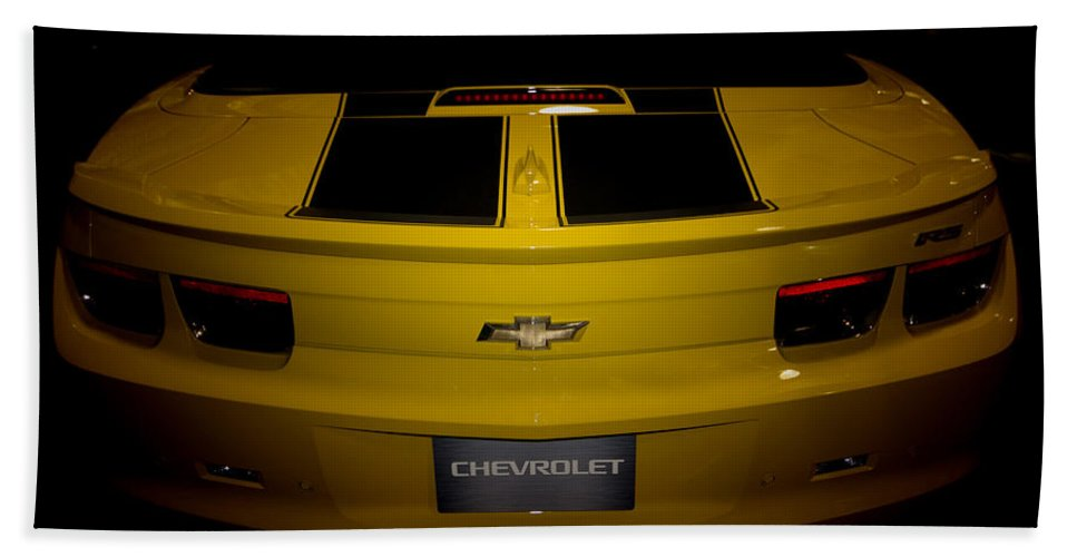 Chevy Camaro Convertible Rs Tail-state Fair Of Texas Beach Towel featuring the photograph Chevy Camaro Covertible Rs Tail by Douglas Barnard