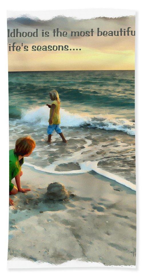 Children Beach Towel featuring the digital art Childhood by Tom Schmidt