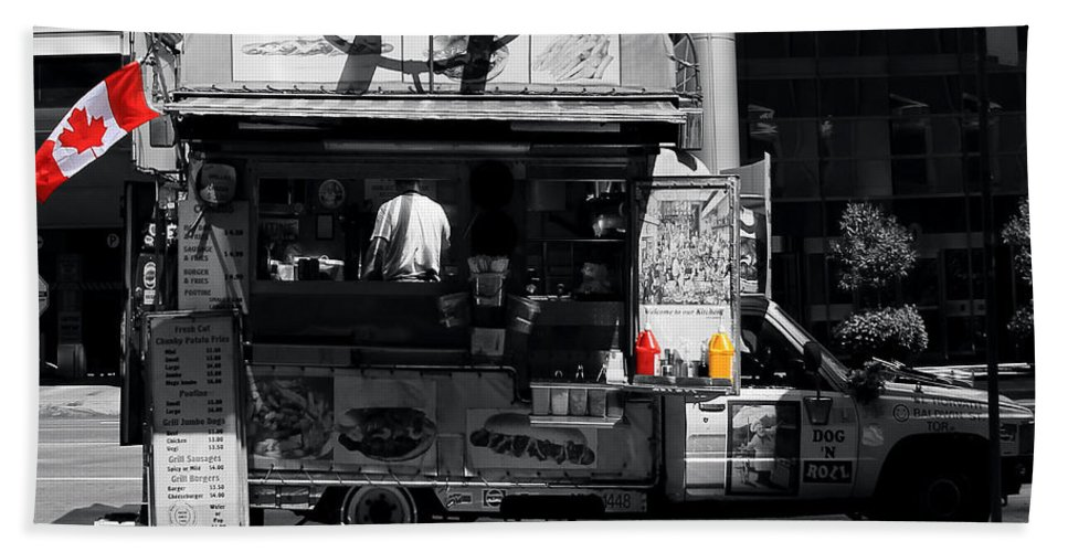Chips Beach Towel featuring the photograph Chip Wagon by Andrew Fare