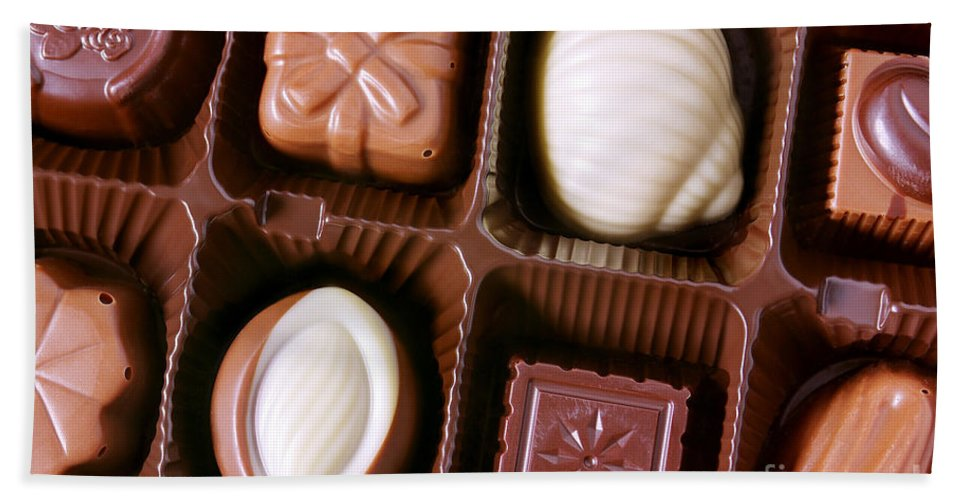 Assorted Beach Towel featuring the photograph Chocolates Closeup by Carlos Caetano