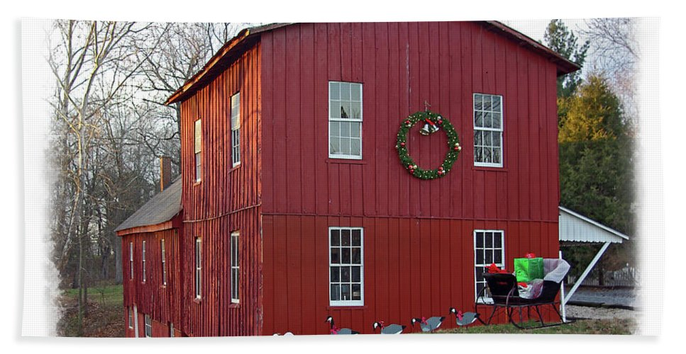 Brian Wallace Beach Towel featuring the photograph Christmas Eve At Williston Mill by Brian Wallace