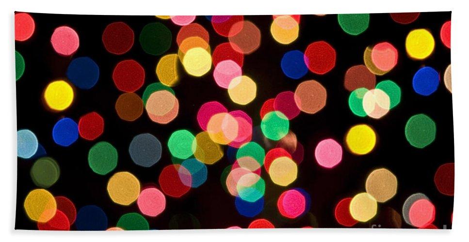 Xmas Beach Towel featuring the photograph Christmas Lights by John Greim