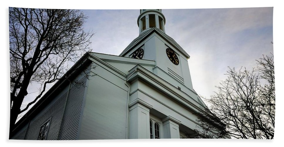 Rockport Beach Towel featuring the photograph Church In Perspective by Mark Valentine
