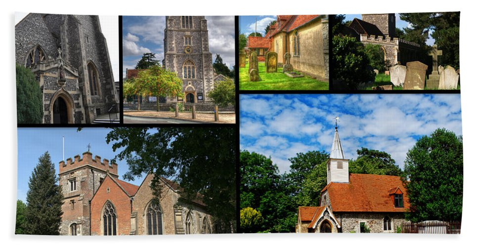 St Beach Towel featuring the photograph Churches Of Hillingdon by Chris Day