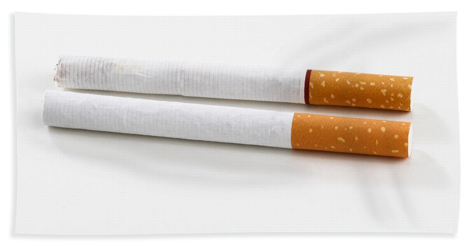 Addiction Beach Towel featuring the photograph Cigarette by Photo Researchers