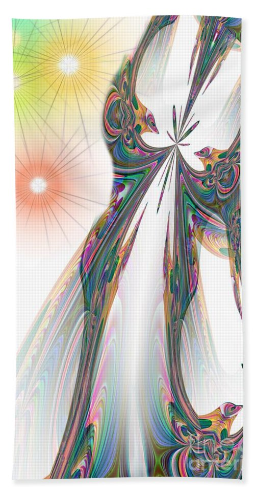 Cinderella Beach Towel featuring the digital art Cinderella's Wedding Night by Maria Urso