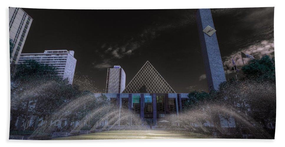 Edmonton City Hall Beach Towel featuring the photograph City Hall by Wayne Sherriff
