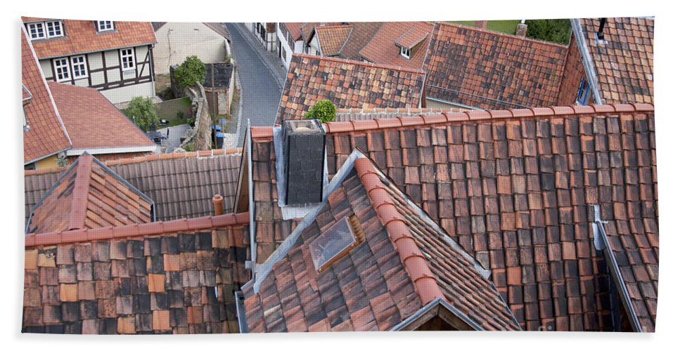 Europe Beach Towel featuring the photograph City Roofs by Heiko Koehrer-Wagner