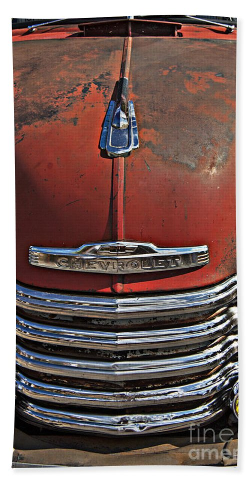 Chevy Beach Towel featuring the photograph Classic 50s Chevy by Darleen Stry