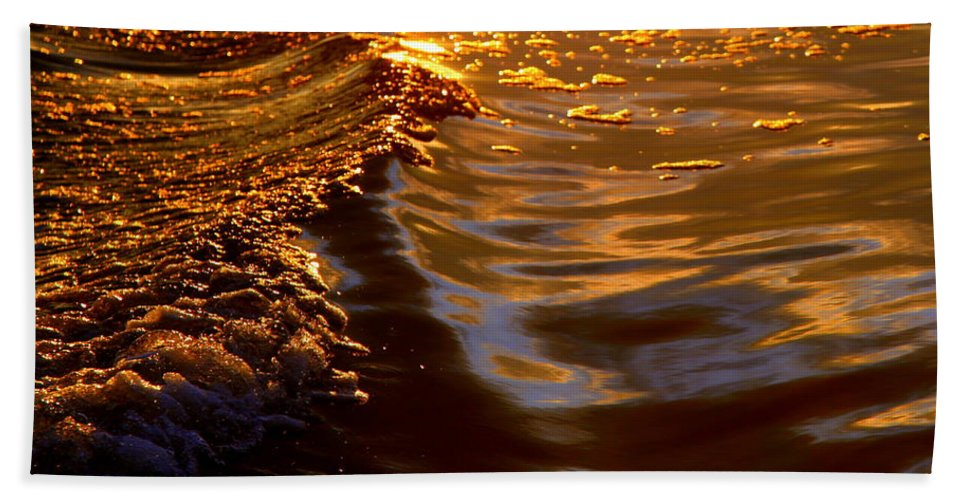 Water Beach Towel featuring the photograph Cleansing The Soul by Karen Wiles