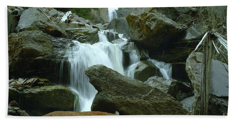 Water Beach Towel featuring the photograph Clear Creek Falls by Jeff Swan
