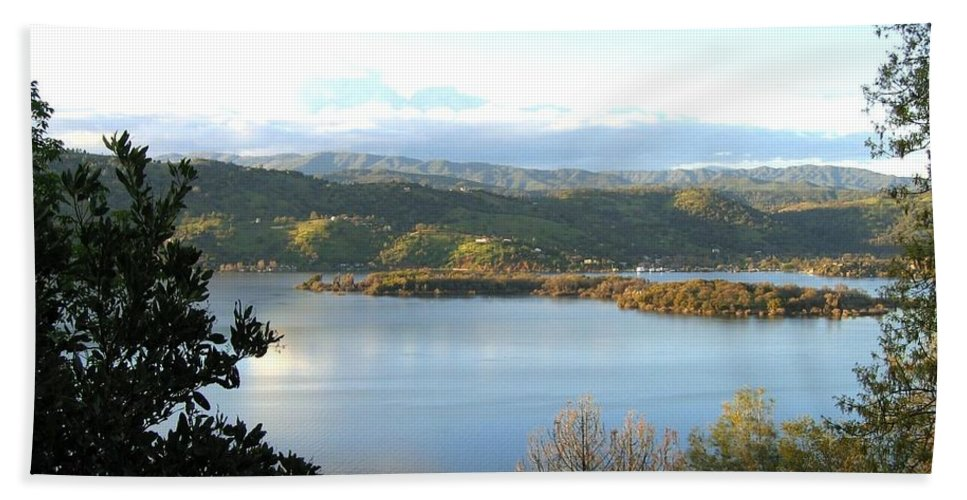 Clear Lake Beach Towel featuring the photograph Clear Lake California 2 by Will Borden