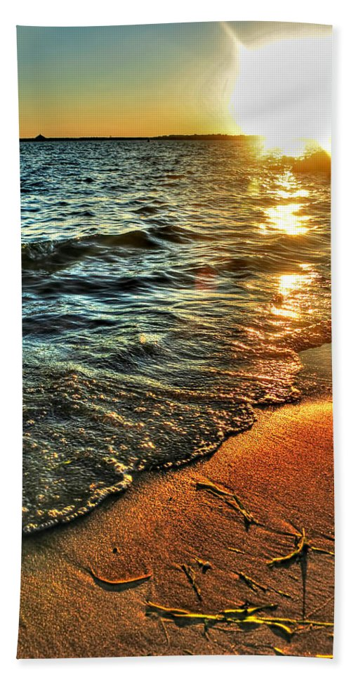 Beach Towel featuring the photograph Clear Waters by Michael Frank Jr