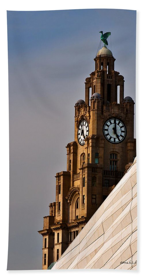 Clock Tower Beach Towel featuring the photograph Clock Tower by Edward Peterson