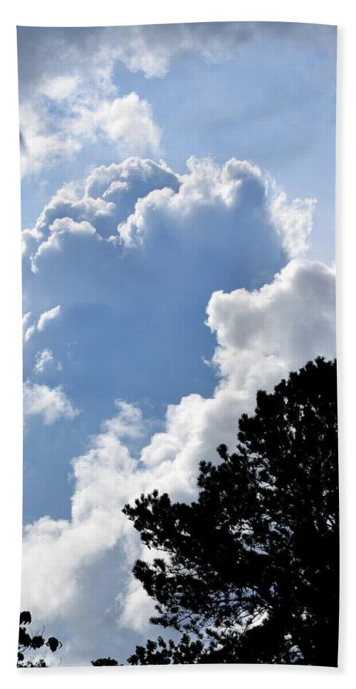 Clouds Beach Towel featuring the photograph Cloud Power by Maria Urso