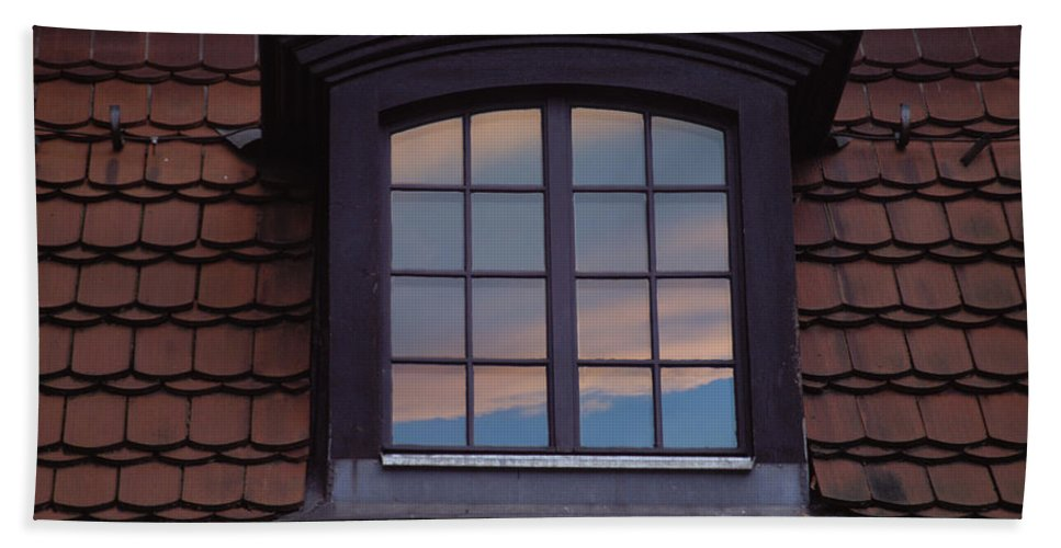 Window Beach Towel featuring the photograph Cloud Reflections by Brent L Ander