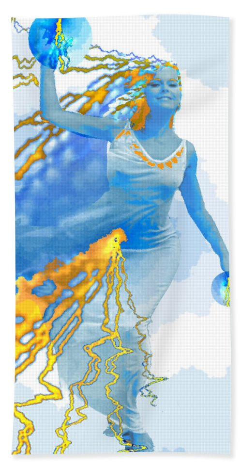 Cloudia Of The Clouds Beach Towel featuring the digital art Cloudia Of The Clouds by Seth Weaver