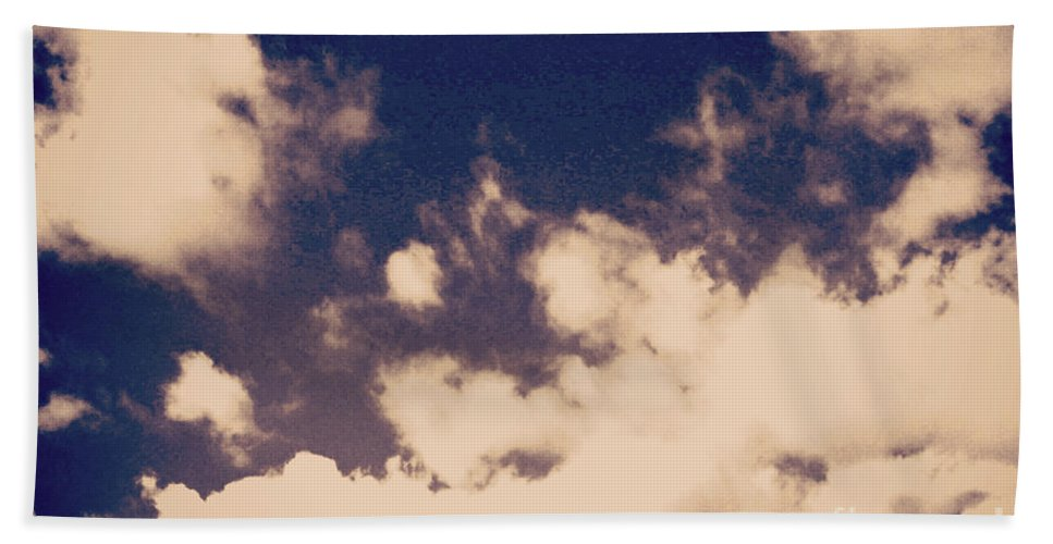 Clouds Digital Print Beach Towel featuring the photograph Clouds-2 by Paulette B Wright