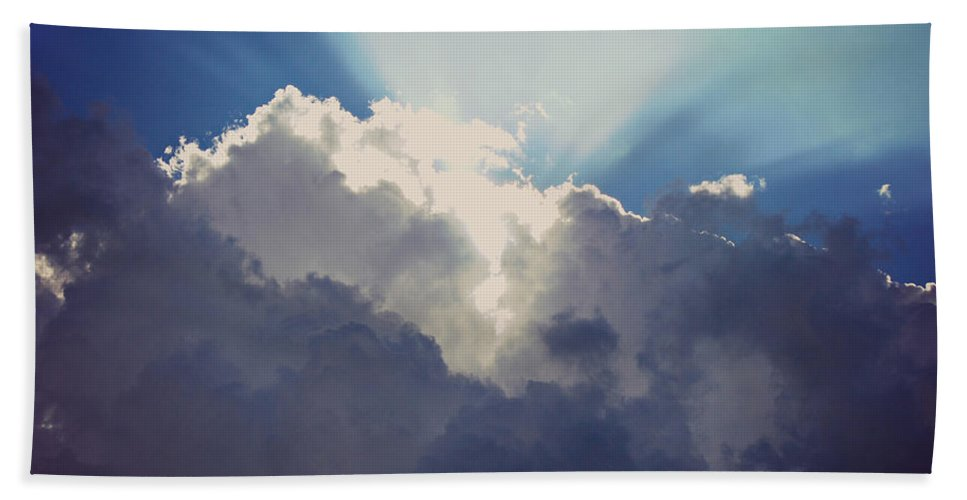 Drama Queen Beach Towel featuring the photograph Clouds-6 by Paulette B Wright