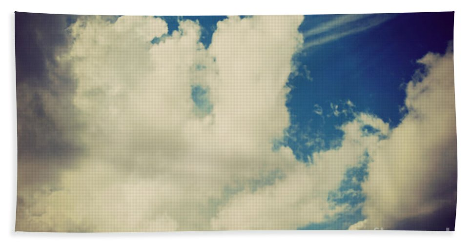 Drama Queen Beach Towel featuring the photograph Clouds-7 by Paulette B Wright