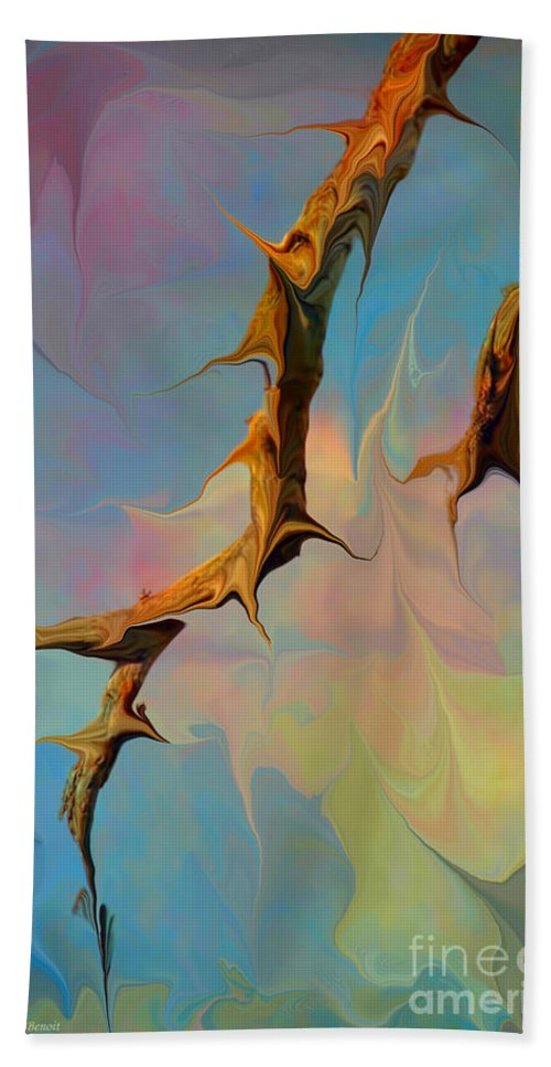 Abstarct Beach Towel featuring the digital art Clouds And Branches Of Life by Deborah Benoit