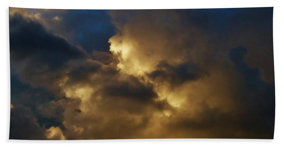Sky And Clouds Formations Beach Towel featuring the photograph Clouds by Lois  Rivera