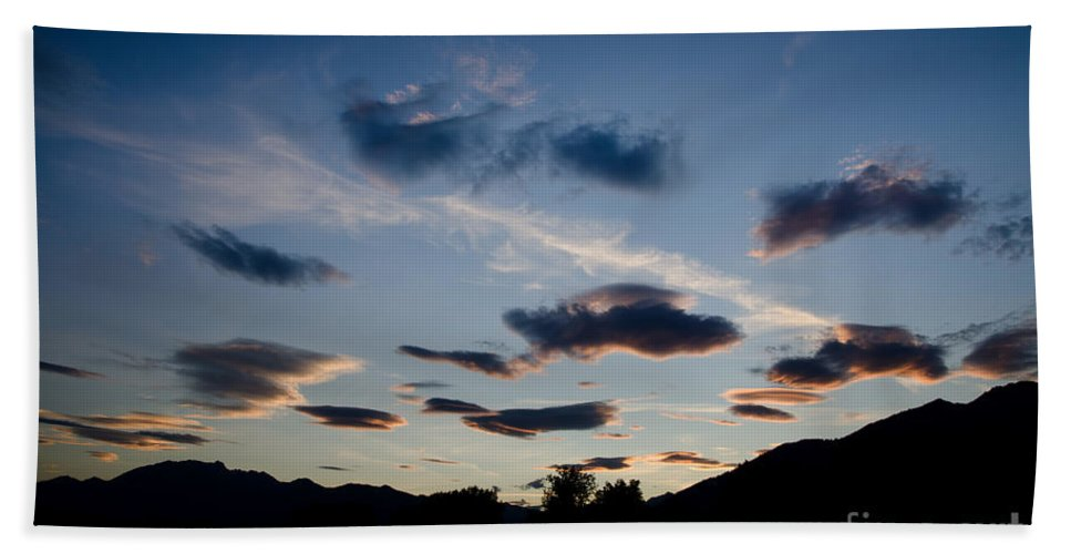 Clouds Beach Towel featuring the photograph Clouds by Mats Silvan