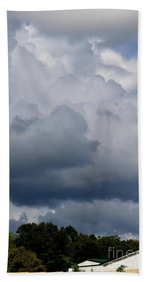Clouds Beach Towel featuring the photograph Clouds Of Thunder by Maria Urso