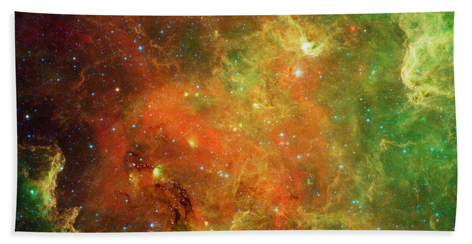 North America Nebula Beach Towel featuring the photograph Clusters Of Young Stars In The North by Stocktrek Images