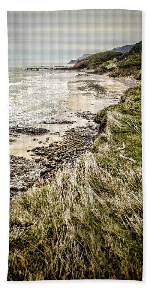 Oregon Beach Towel featuring the photograph Coastal Grass by Heather Applegate