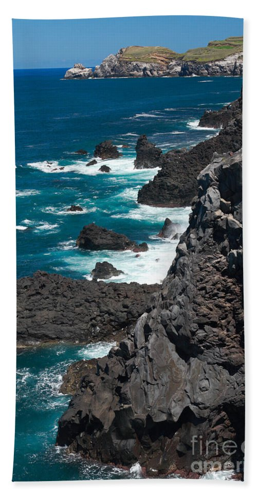 Azores Beach Towel featuring the photograph Coastline by Gaspar Avila