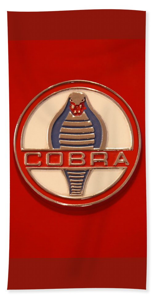 Transportation Beach Towel featuring the photograph Cobra Emblem by Mike McGlothlen