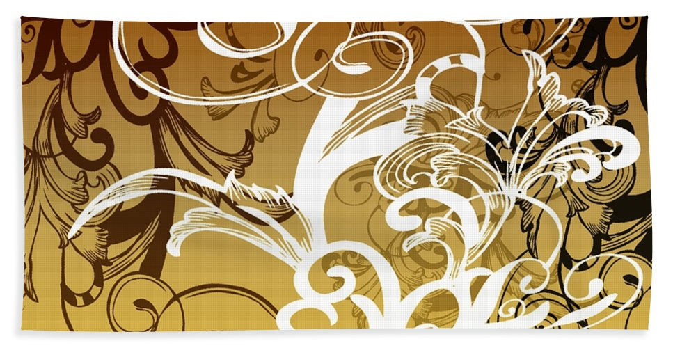 Flowers Beach Towel featuring the digital art Coffee Flowers 1 Calypso by Angelina Vick
