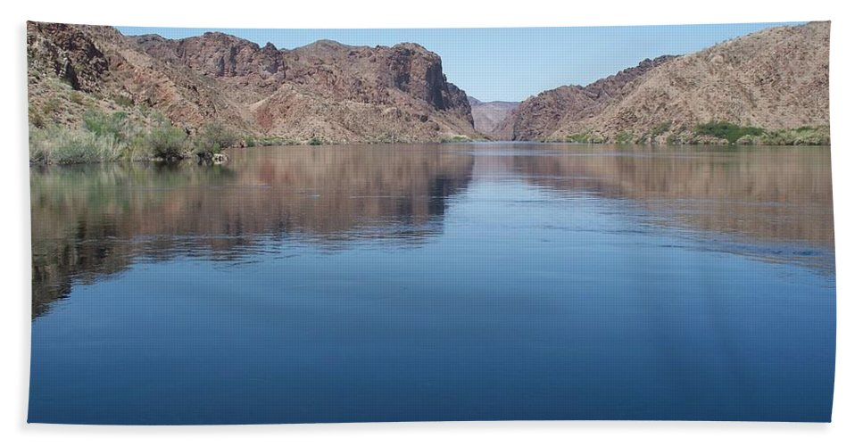 Colorado River Beach Towel featuring the photograph Colorado River At Willow Beach Az by Jonathan Barnes