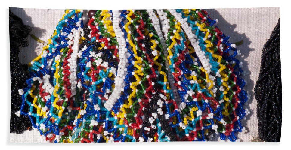 Beads Beach Towel featuring the photograph Colorful Beads Jewelery by Ashish Agarwal