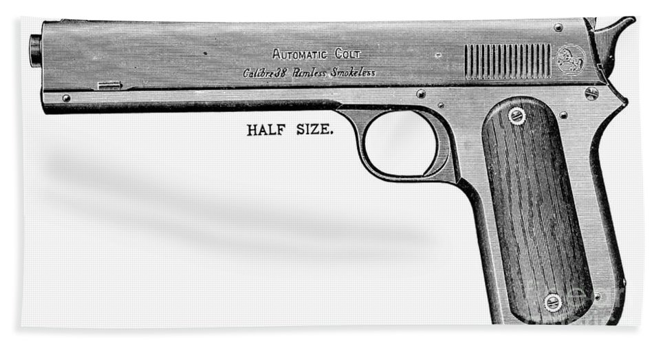 20th Century Beach Towel featuring the photograph Colt Automatic Pistol by Granger