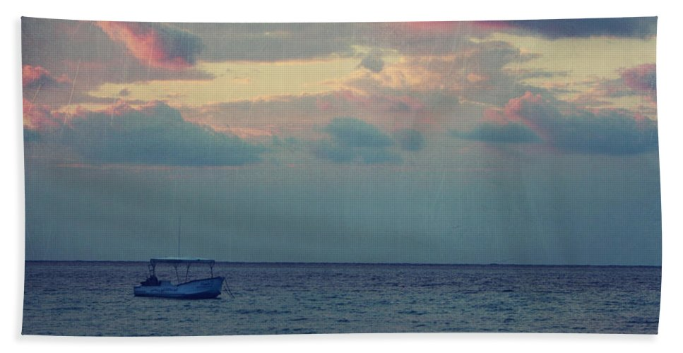 Boat Beach Towel featuring the photograph Come With Me My Love by Laurie Search