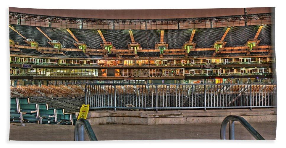 Beach Towel featuring the photograph Comerica Park Detroit Mi by Nicholas Grunas