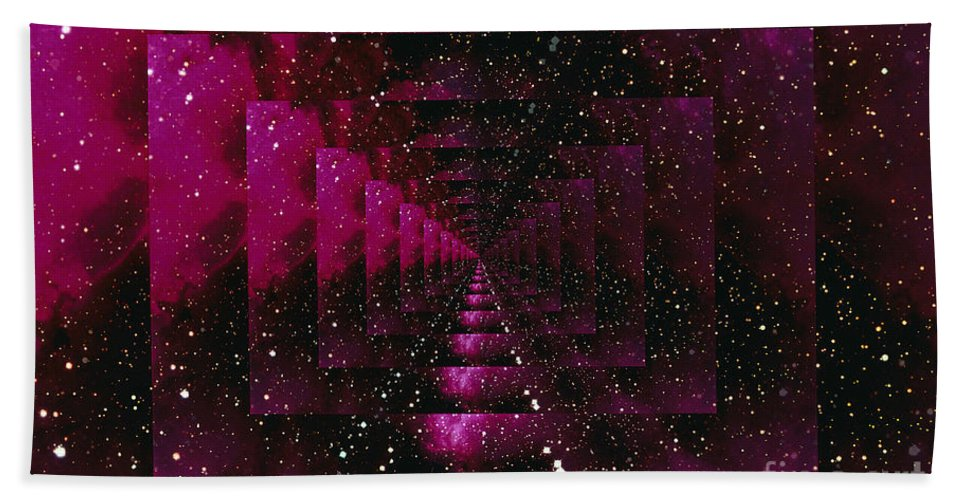Color Image Beach Towel featuring the digital art Computer Space Image by Stocktrek Images